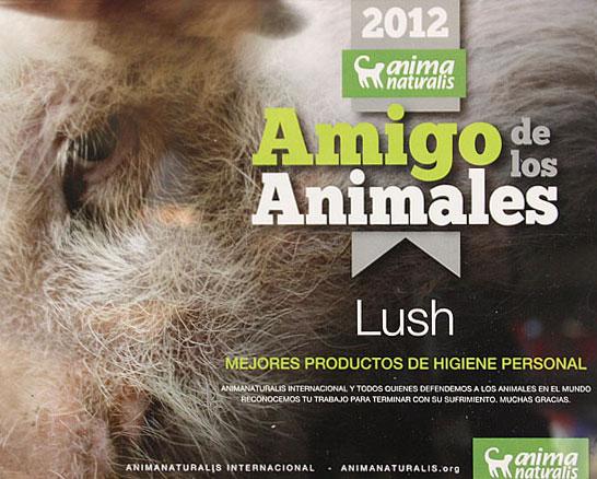 Lush premiado por AnimaNaturalis!