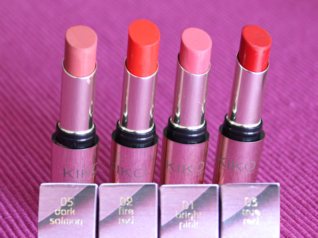 Unlimited lipsticks de Kiko