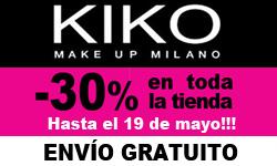 -30% en Kiko Descuento Glamour!
